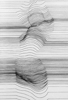 like the way that lines can express its volume and also different amount of pressure is used to express the volume