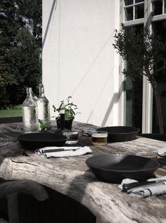 På terrassen & min goda lunchpizza