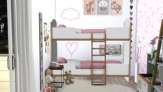 Furniture: Twin room Newport from Models Sims 4
