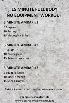 Home workouts | Interval workouts | Tabata Workouts | HIIT workout | www.experimentsinwellness.com