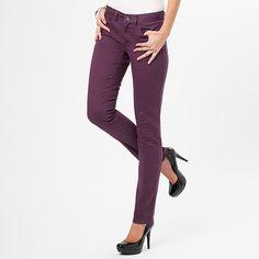 Women's Coloured Skinny Jeans in Prune Purple $39