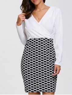 GET $50 NOW   Join RoseGal: Get YOUR $50 NOW!http://www.rosegal.com/long-sleeve-dresses/long-sleeve-argyle-bodycon-surplice-907467.html?seid=99ohjdcctg3ob0rkorda1pjpq5rg907467