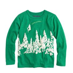 Boys' glow-in-the-dark waa hooo tee : glow-in-the-dark tees | J.Crew