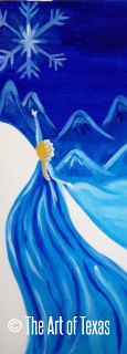 Queen Elsa (Frozen) painting | The Art of Texas Kids | Midland, Texas