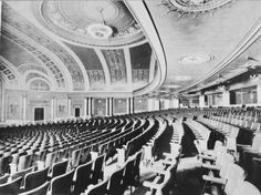 The auditorium of the Palace Theater, Dallas, Texas, which opened in 1921. It was demolished in 1970 when the lease was not renewed.    Thanksgiving Tower now sits in its place