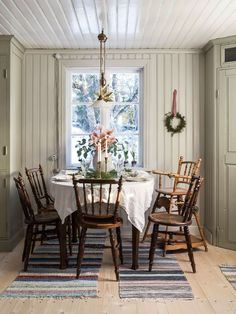 When traveling around Sweden, you can very likely come across such a traditional Scandinavian cottage with a red facade located in the middle of untouched ✌Pufikhomes - source of home inspiration Scandinavian Cottage, Swedish Cottage, Swedish Decor, Swedish House, Scandinavian Interior Design, Cottage Chic, Scandinavian Christmas, Cottage Kitchens, Cottage Interiors