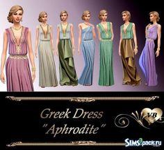 """TS4 Греческое платье """"Афродита"""""""