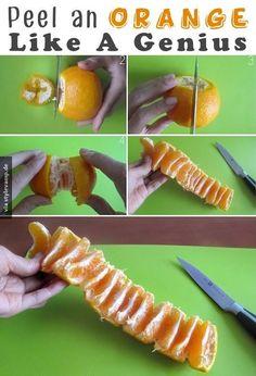 Orange schälen - Leicht gemacht!