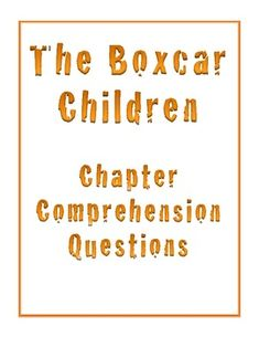 Boxcar children student packet, novel units, 013106 rainbow resource.