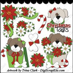 Yuletide Puppies 1 Clip Art: http://digiscrapkits.com/digiscraps/index.php?main_page=product_info&cPath=434_435&products_id=8343 #TrinaClark #DigiScrapKits