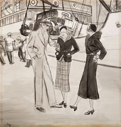Image result for 50's illustration style