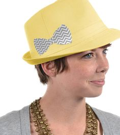 Hat with Chevron Bow