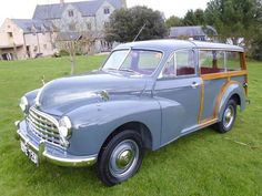 1954 Morris Oxford Traveller (MO series) miles from new SOLD, Morris Oxford Traveller (MO series) miles from new and in concours condition. Morris Traveller, Morris Oxford, Old Fashioned Cars, Classic Cars British, Old Lorries, Woody Wagon, Morris Minor, Oxford Blue, Shooting Brake