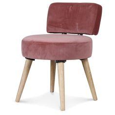 69€ Chaise ou fauteuil en velours Rose de la marque Opjet chez KOTECAZ ! YES Style Retro, Decoration, Accent Chairs, Stool, Design, Furniture, Home Decor, Dining Chairs, Scandinavian