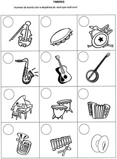 Musical instruments that make sounds Music Lessons For Kids, Music Lesson Plans, Music For Kids, Piano Songs For Beginners, Preschool Music Activities, Music Worksheets, Music Crafts, Music And Movement, Music School