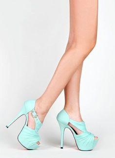 Teal heels... Love
