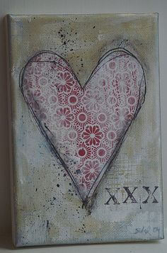 Red heart collage by spagat, via Flickr