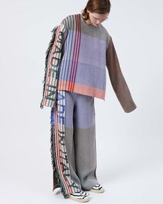 What can you do with grandma's old blankets? MAKE A TRACK SUIT