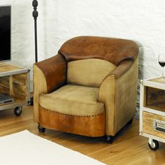 Roadie Chic Leather Tub Chair – Harley & Lola