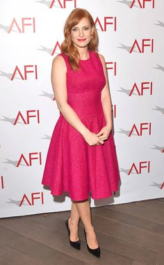 A Bella in Pink from Jessica Chastain's Best Looks  In Lela Rose