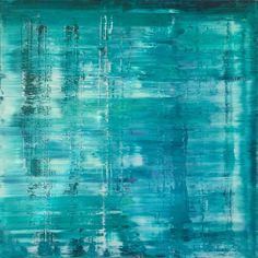 """Buy ABSTRKT N° 548, a Acrylic on Canvas by Brian Smith from United States. It portrays: Abstract, relevant to: interior decor, contemporary art, abstract expressionism, calming, richter, original artwork, modern abstract, Large artwork, ABSTRKTSTUDIOS, abstract, green, modern Contemporary modern abstract painting on 48"""" x 48"""" x 1.5 canvas. varnished and ready to hang. signed and dated on the back."""
