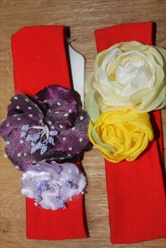повязочки для волос с цветами