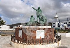 Statue of three poets of Gran Canaria who visited Puerto de las Nieves.  From left: Saulo Toron, Tomas Morales and Alonso Quesada