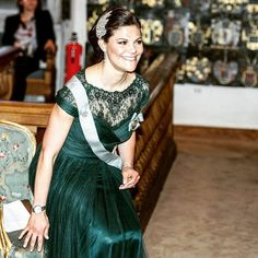 Crown Princess Victoria of Sweden attended the annual celebration of The Royal Swedish Academy of Letters, History and Antiquities at the The House of Nobility in Stockholm, Sweden on March 20, 2015.