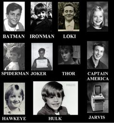 Yearbook Photos    Jarvis ;)))    LOKI!!!! SOOOO CUTE!!! And look at Robert! LOL he's sooo cute!