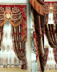 Tuscan style – Mediterranean Home Decor Thick Curtains, Elegant Curtains, Beautiful Curtains, Colorful Curtains, Valance Curtains, Drapery, Black And Gold Curtains, Valance Window Treatments, Blue Shutters