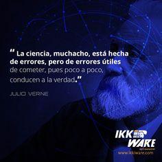 De que esta hecha la ciencia?    #ikkiware #frases #ciencia #JulioVerne #errore #utiles #quotes #inspiration #motivation #huuiimoment #jueves