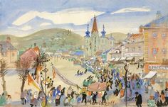 Oskar Laske : Galerie bei der Albertina Interwar Period, Vienna Secession, Study Architecture, Famous Buildings, Landscape Drawings, North Africa, Portrait, World War Two, First World