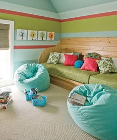 play room... like the colors and the bean bags