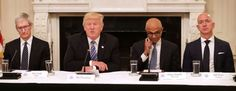 The CEOs Of Amazon, Apple, And Microsoft Hung Out With Donald Trump, Resulting In Many Twitter Jokes - http://viralfeels.com/the-ceos-of-amazon-apple-and-microsoft-hung-out-with-donald-trump-resulting-in-many-twitter-jokes/