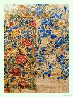 Vintage ~ William Morris, Chintz, Rose