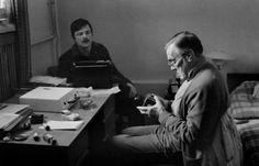 Arseny Tarkovsky and his son, Andrei Tarkovsky, by Gueorgui Pinkhassov, 1979.