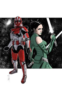Star Wars  - Commanders and Generals: Ganch and Keelyvine by Tom Hodges
