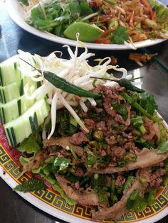 Beef larb salad spicy - fresno ca