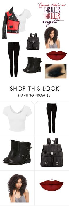 """""""""""Thriller"""" ~ Michael Jackson #halloween #fall"""" by loveroffashion0216 ❤ liked on Polyvore featuring Alexander Wang, Proenza Schouler and Anastasia Beverly Hills"""