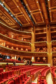 Muscat Royal Opera House in #Oman : elegant and intricate architecture and decor - here the AUDITORIUM - check the post for many photos of the the outside and the inside http://www.zigzagonearth.com/muscat-oman-royal-opera-house/