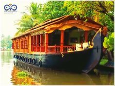 Houseboats on beautiful Alleppey Backwaters