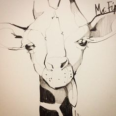 Salut! #giraffe #pencil #sketch #animal #portrait #illustration