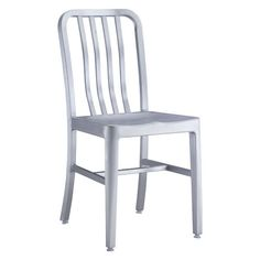 Gastro Dining Chair Brushed Aluminum With a strong aluminum body, the Gastro Chair works well indoor and outdoor.  The finish is a sleek and industrial brushed matte.  This chair brings a soft edge to any space.<br><br>Dimensions: 15.4W, 16.9D, 32.7H