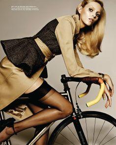 bike to the fall: anja rubik by rafael stahelin for vogue korea october 2012