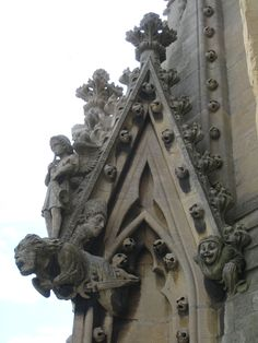 More gargoyles. Gargoyles were added to ward away evil spirits. Those on Notre Dame are actually functional down spouts that manage water runoff from rain and snow.