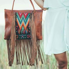 """Our bags are made with """"huipil"""" fabric, a """"huipil"""" is a traditional  hand-woven blouse use by Mayan woman, sometimes taking months to complete , these textiles will make your bag one of a kind!  #MayanGypsy"""