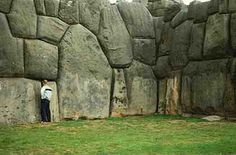 Cyclopean walls at Sacsayhuaman, Peru. No one can explain how such large stones were cut, measured and placed so perfectly together. They are extremely effective in withstanding earthquakes and time.