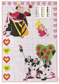The Queen Of Hearts in the French-speaking Alice Wonderland