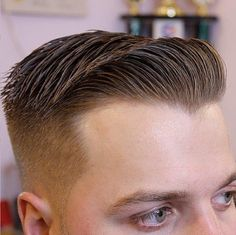 Combover with tightly faded squared sides Mens Modern Hairstyles, Slick Hairstyles, Medium Hairstyles, Wedding Hairstyles, Brylcreem Hairstyles, Short Hair Cuts, Short Hair Styles, Moustaches, Surf Hair