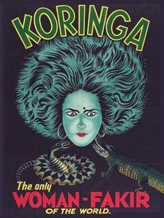Koriinga. 'The Only Woman Fakir of the World'